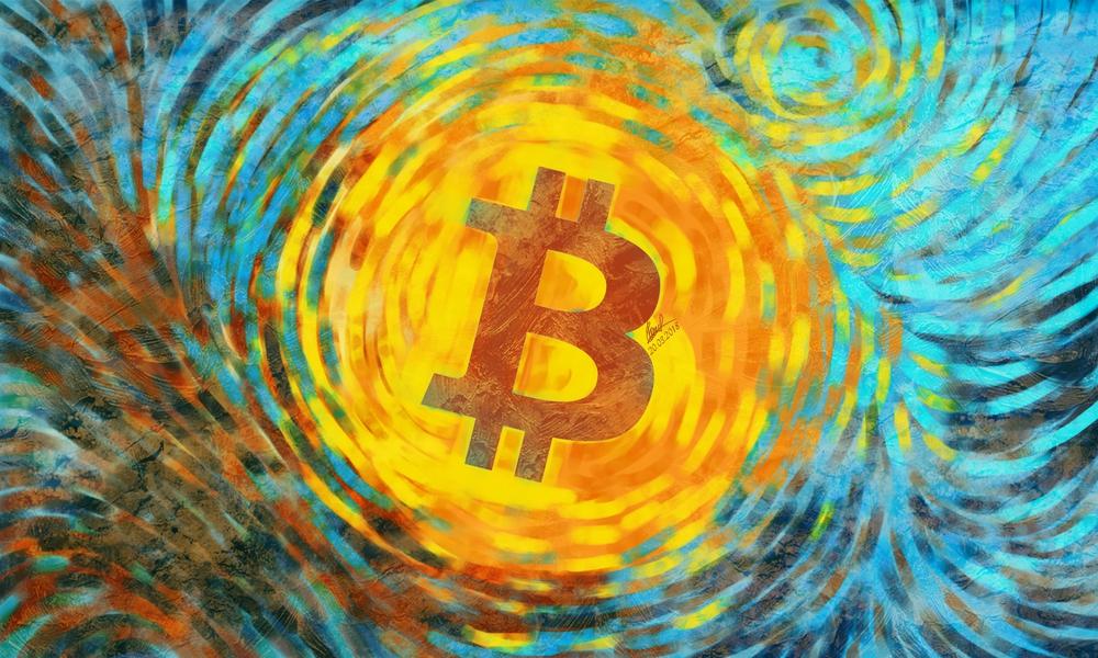 1 buc aurită monedei Bitcoin BTC monede Art Collection